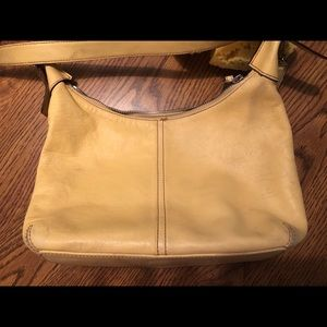Coach Hobo Bag H33-9566 Canvas Yellow Authentic